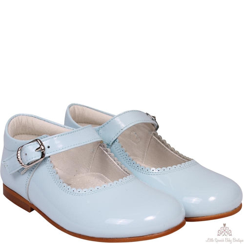 Bambi Patent Leather Shoes Blue