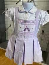 Load image into Gallery viewer, Lilac Smock Pinafore