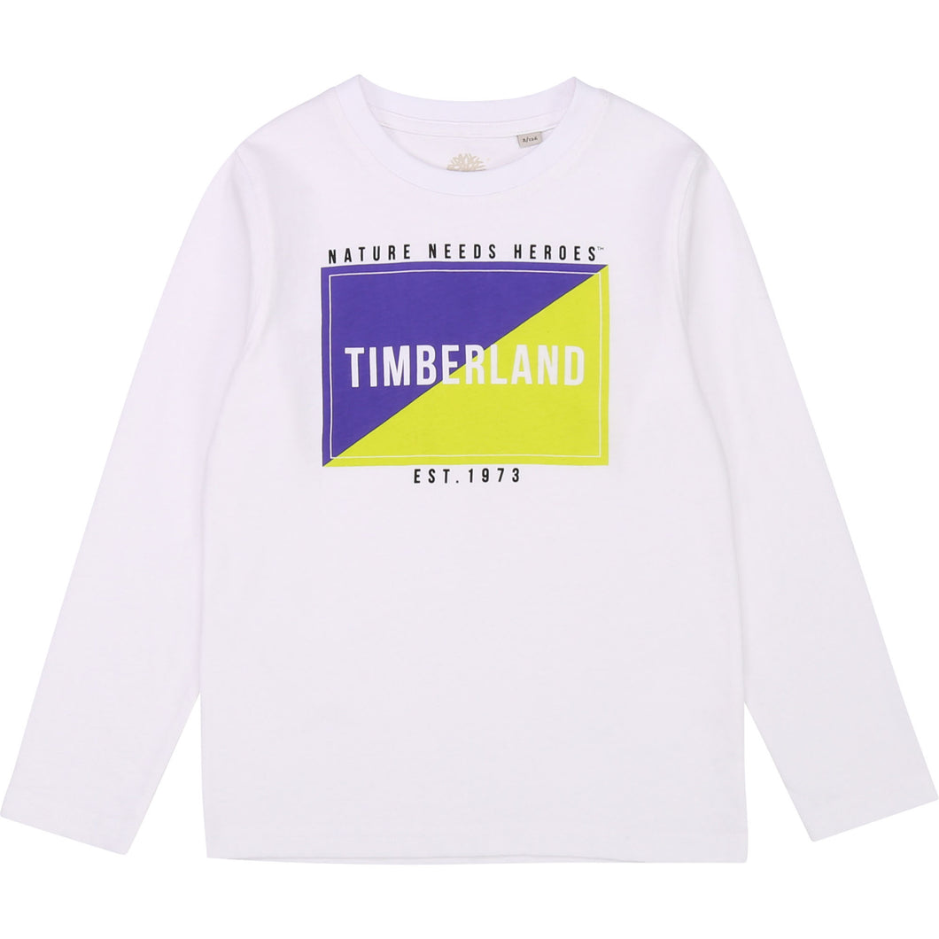 Timberland White Long Sleeve Tshirt