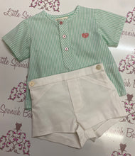 Load image into Gallery viewer, Dolce Petit Boys Green Short Set 2148/23C