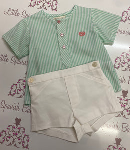 Dolce Petit Boys Green Short Set 2148/23C