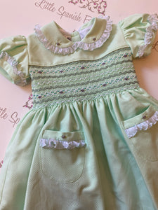 Mint Green Smocked Back & Front Dress