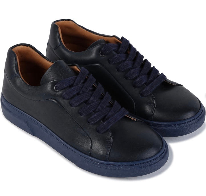 Boss Navy Trainers J29207