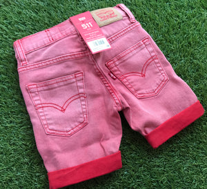 Levis Red Shorts