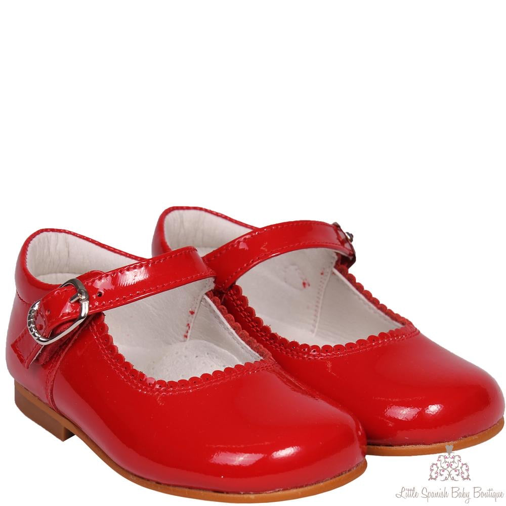 Bambi Patent Leather Shoes Red