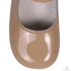 Bambi Patent Leather Shoes Camel