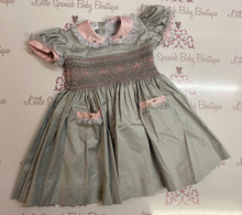 Load image into Gallery viewer, Grey Smocked Back & Front Dress