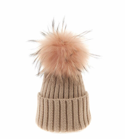 PomPom Hats Pink,Red,Blue,Camel,Cream,Navy
