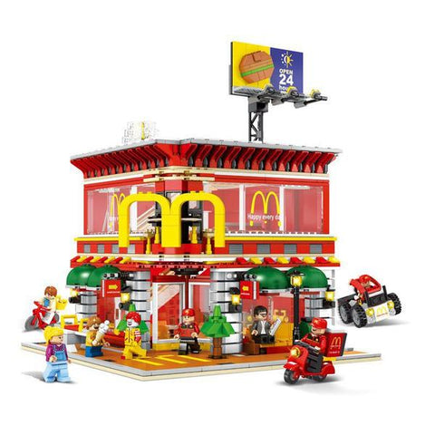 SEMBO 6901--4 IN 1 McDonald's RV With LED