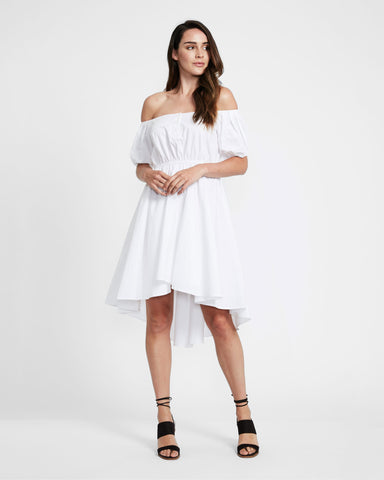 Delilah Embroidered White Dress