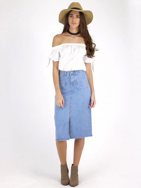 Mia Denim Skirt * SMALL RUN - hellolouise