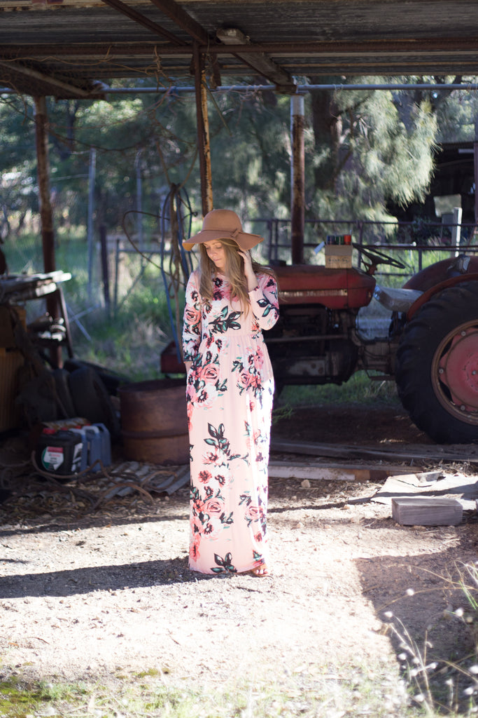The Dell Floral Maxi Dress - Pink - hellolouise