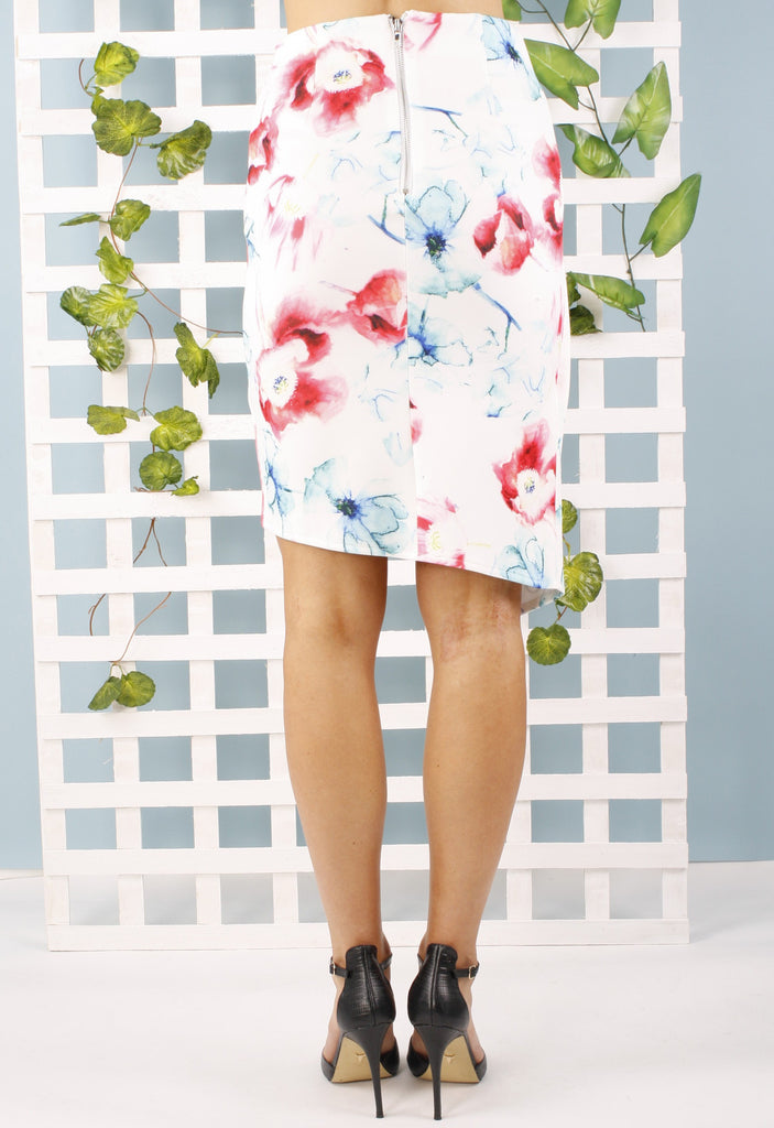 Laura Floral print skirt - hellolouise