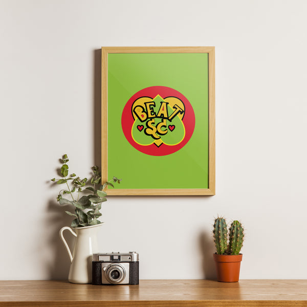 Beat It { Premium Music-Inspired Graphic Art Print }
