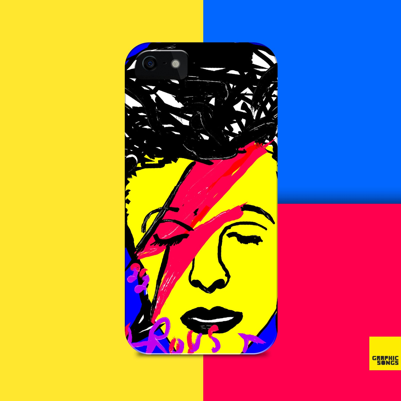 Bowie { Premium Music-Inspired Graphic Print Phone Case }