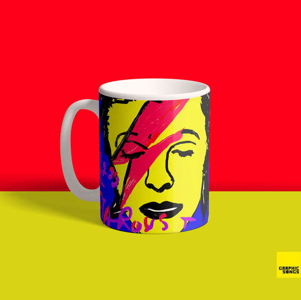 Bowie { Premium Music-Inspired Graphic Print Mug }