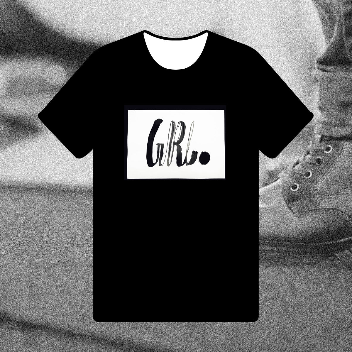 Girl { Unisex Black/White Premium Music-inspired Graphic Print T-shirt }