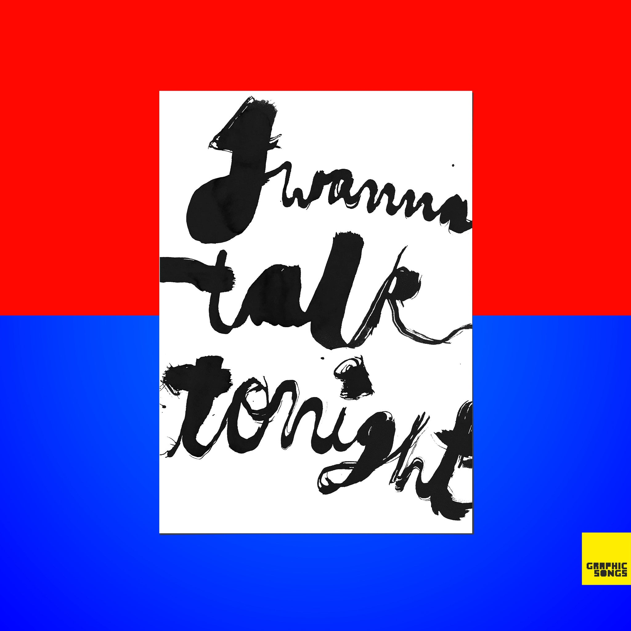 Talk Tonight { Premium Music-Inspired Graphic Art Print }
