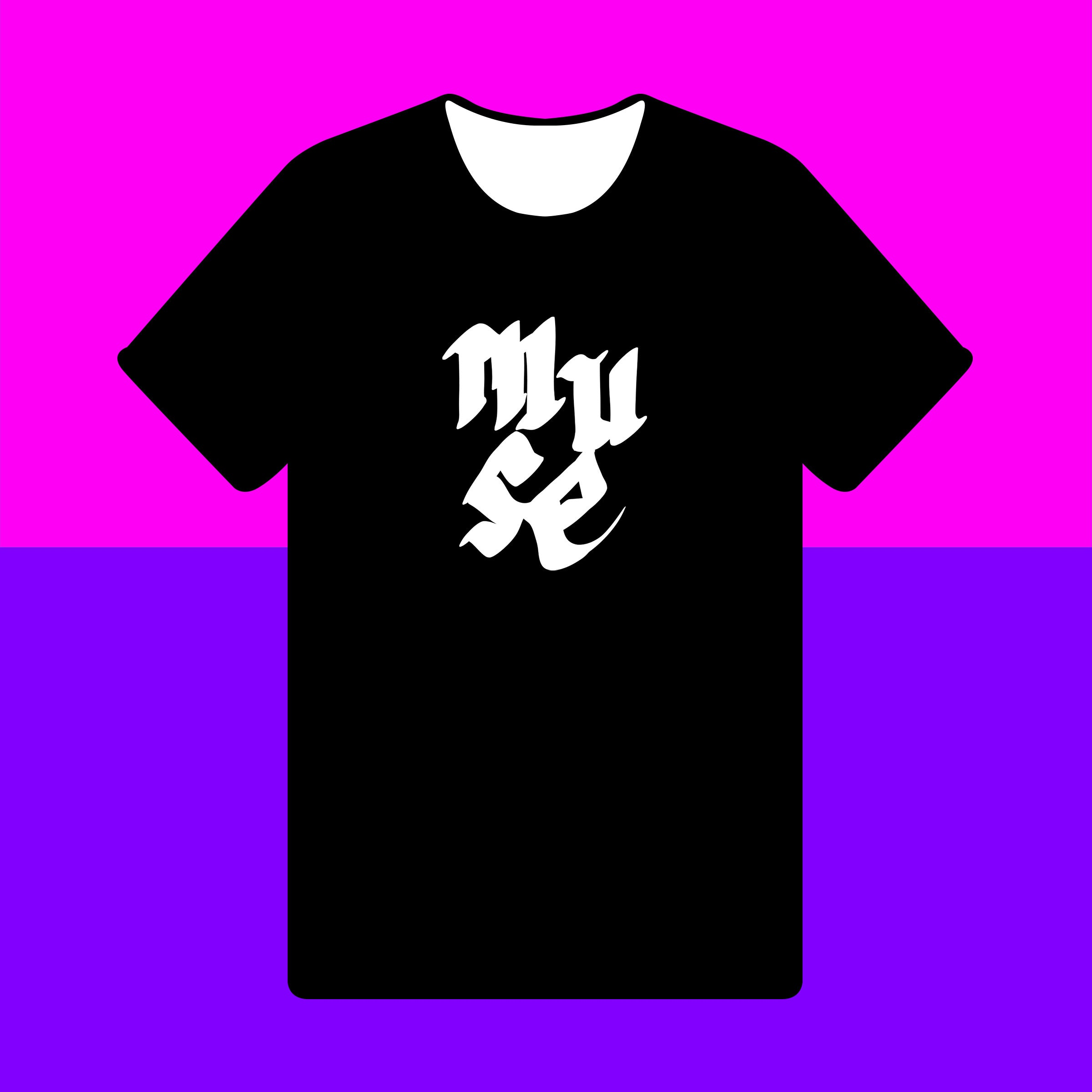 MUSE { Unisex Black/White Premium Music-inspired Graphic Print T-shirt }