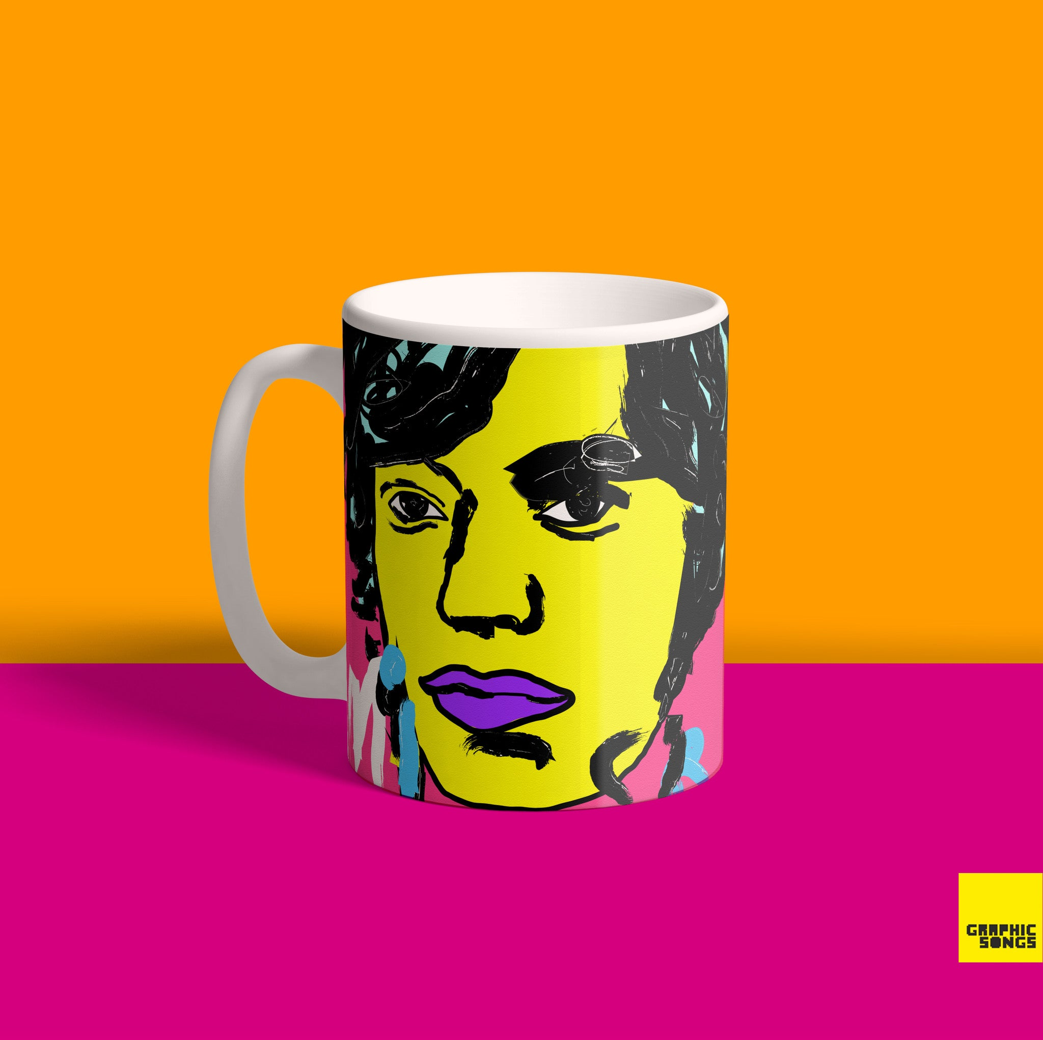 Mick { Premium Music-Inspired Graphic Print Mug }