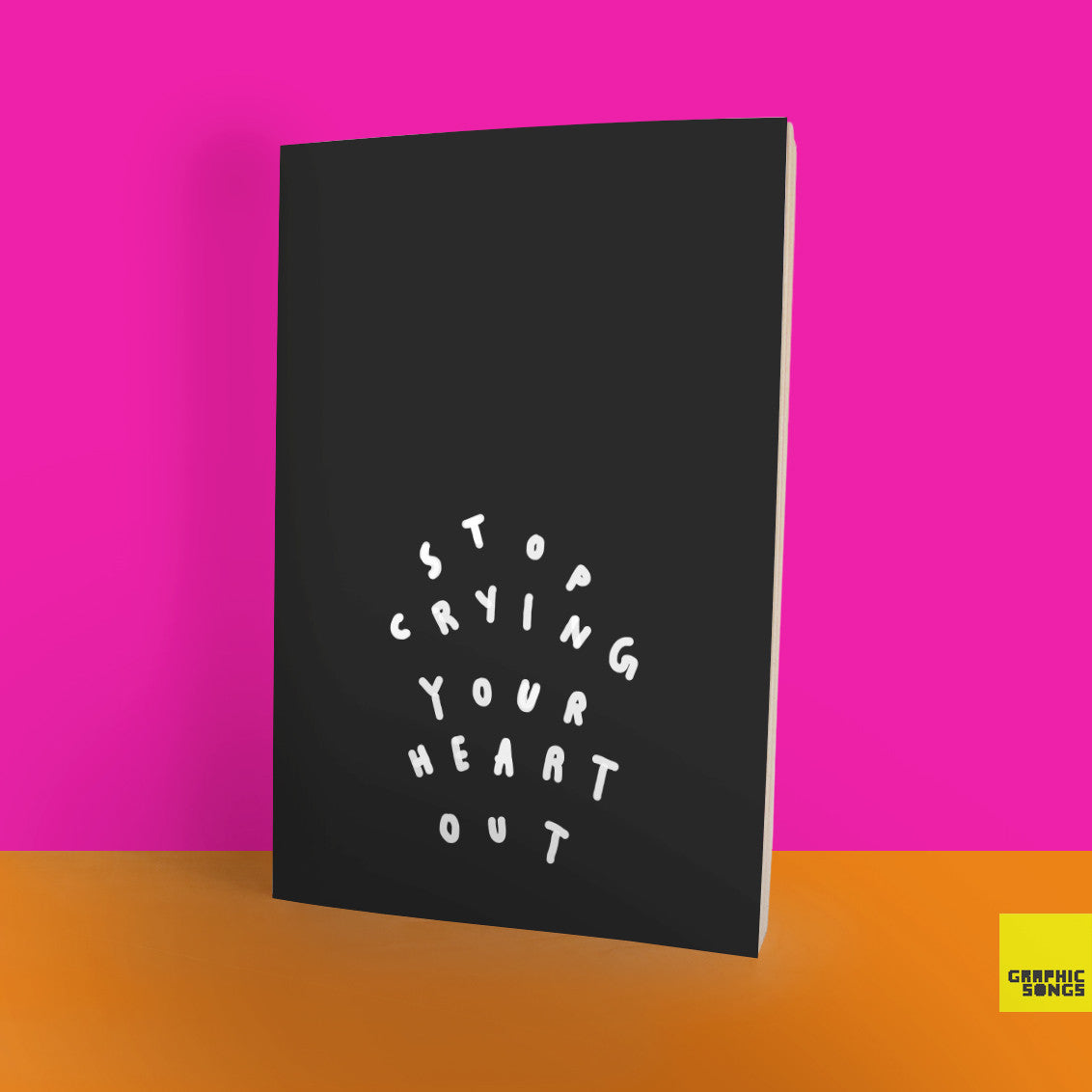 Stop Crying Your Heart Out { Music-Inspired Graphic Notebook }