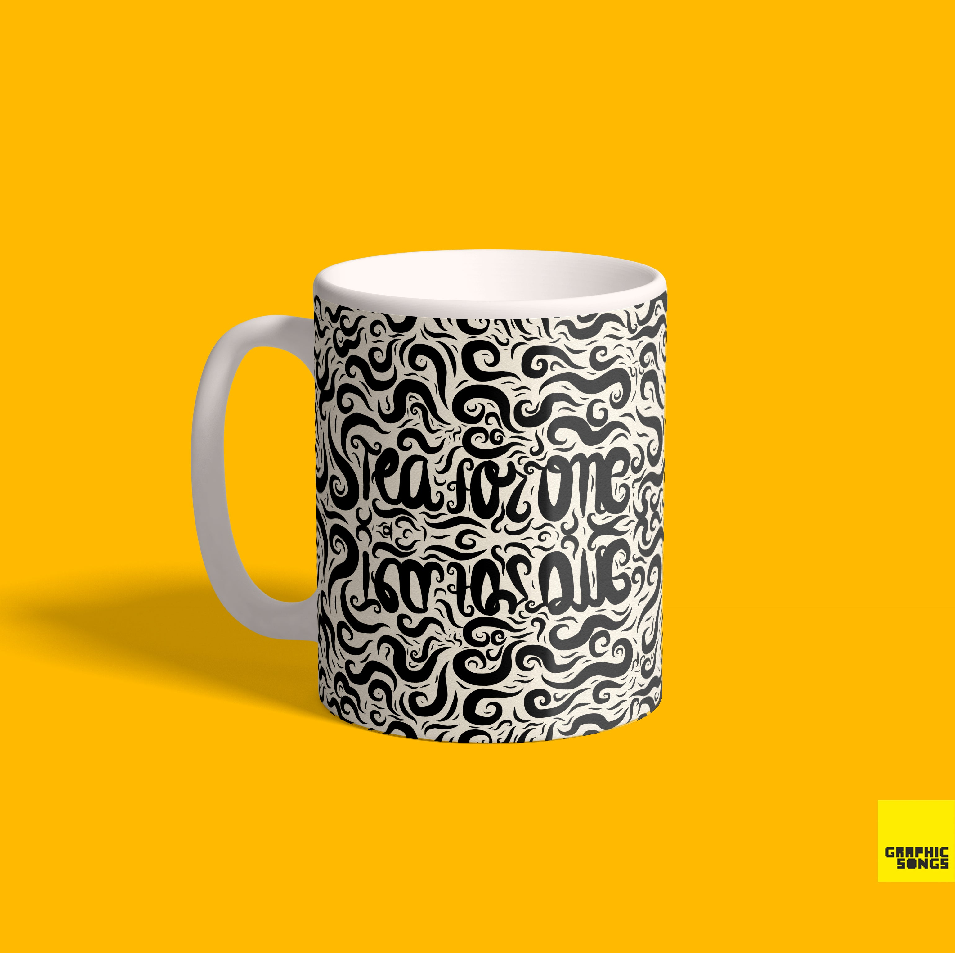 Tea For One  { Premium Music-Inspired Graphic Print Mug }
