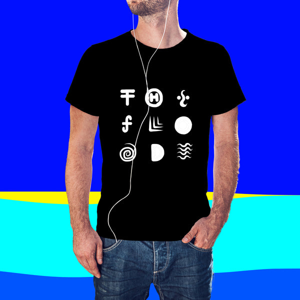 The Flood - Rahul Rajkhowa Collection { Unisex Black/White Premium Music-inspired Graphic Print T-shirt }