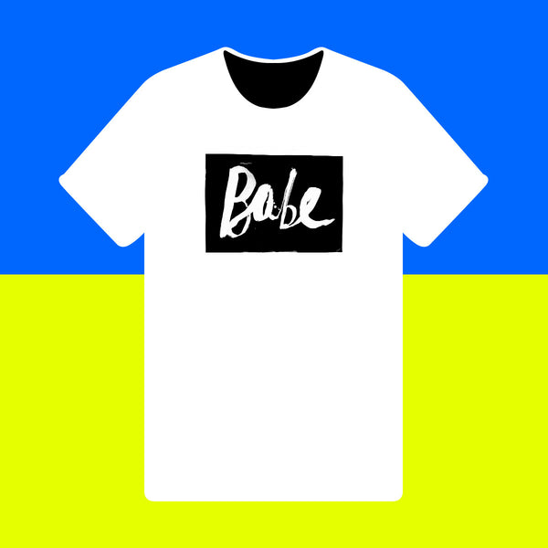 Babe { Unisex Black/White Premium Music-inspired Graphic Print T-shirt }