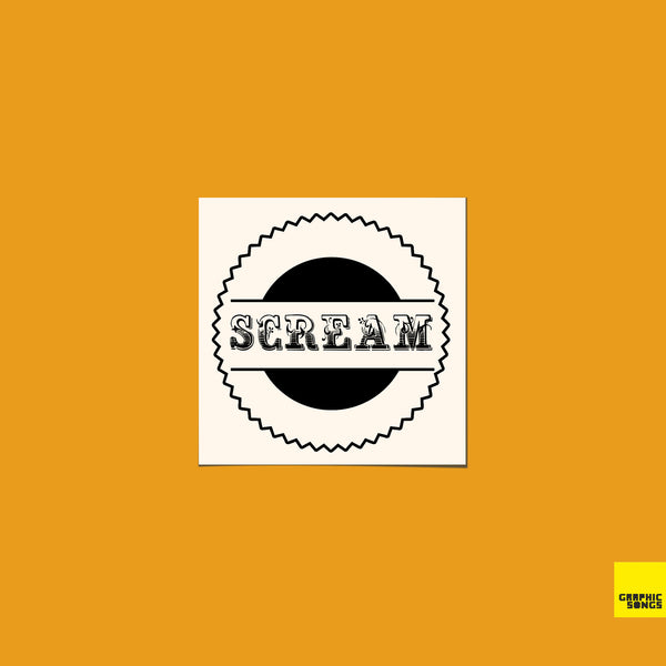 Scream { Temporary Music Tattoo | Set of 5 }