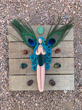 The Royal Peacock Goddess (Wall or Table art)