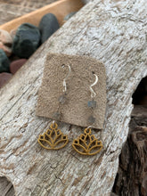 Labradorite Lotus Earrings