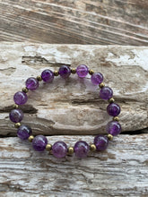 Gemstone stretch bracelet (Amethyst)