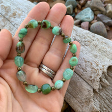 Gemstone stretch bracelet (Chrysoprase)