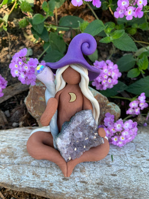 The Amethyst Dream Witch with Staff