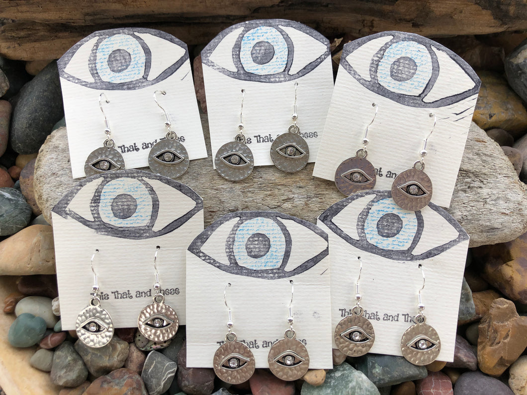 Rhinestone Eye Earrings