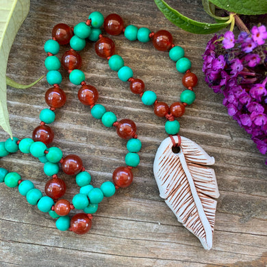 FREE SPIRIT knotted and beaded Necklace