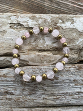 Gemstone stretch bracelet (Rose Quartz)