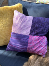 All the purples, light and fluffy throw pillow