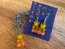 Gummy Bear Necklace and Earring Set (Peachy Keen)