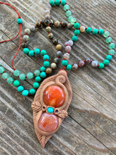 COURAGEOUS SPIRIT knotted and beaded Necklace