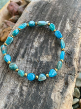 Gemstone stretch bracelet (Blue Apatite)