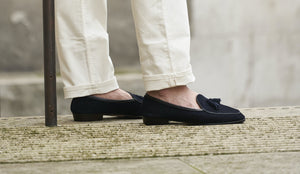 Men's Navy Loafers