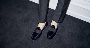 Men's Black Tie Loafers