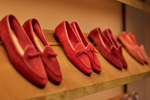 Men's Red Loafers