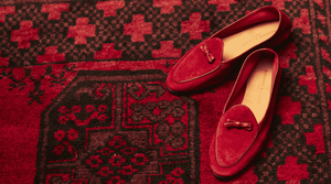 Women's Red Loafers