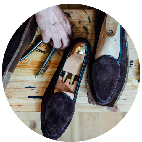 Fully handmade loafers.