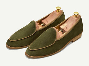 Sagan Classic Crepe in Moss Glove Suede