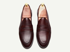 Sagan Grand Penny in Oxblood Calf