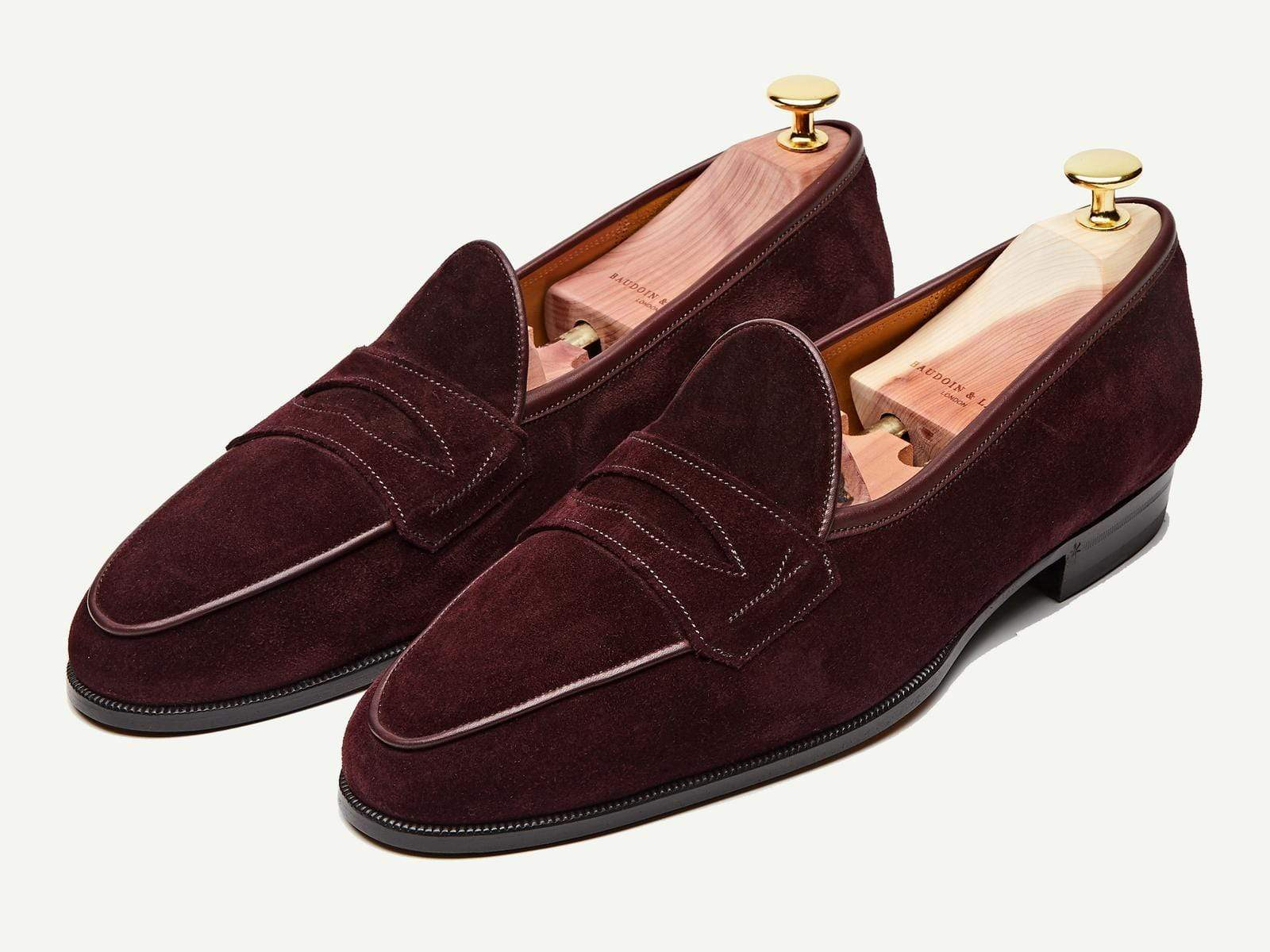 Sagan Grand Penny in Oxblood Glove Suede