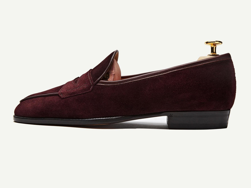 Sagan Grand Penny in Oxblood Glove Suede (3603728760909)
